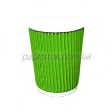 Стакан гофр. 275 мл зеленый (20/500, КР-80)