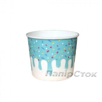 Контейнер для мороженого с рисунком 120 мл Глазурь (40/1000)