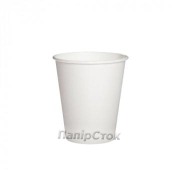 Стаканчики бумажные белые 175 мл (50/2700, КР-69)