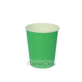 Стаканчики бумажные цветные 175 мл Зеленый (50/2400, КР-69)