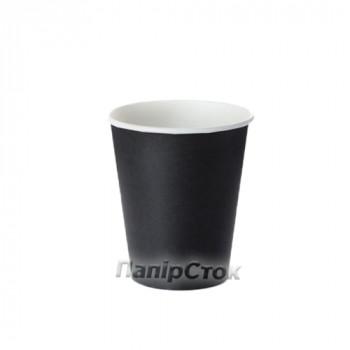 Стаканчики бумажные цветные 175 мл Черный (50/2400, КР-69)