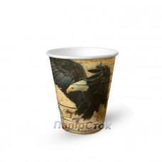 Стаканчики паперові 175 мл з малюнком Полювання на каву (50/3000) КР-69
