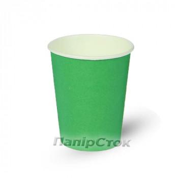 Стаканчики бумажные цветные 250 мл Зеленый (50/2000) (КР-76)