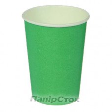 Стаканчики бумажные цветные 500 мл Зеленый (50/1000) (КР-89) - image