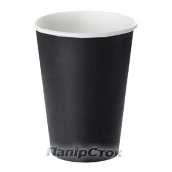 Стаканчики бумажные цветные 500 мл Черный (50/1000) (КР-89)